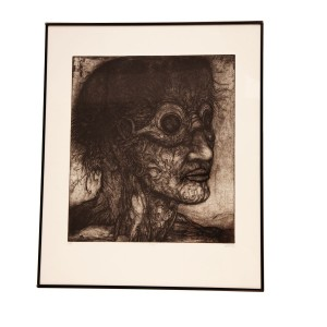Diver  Brian McKenzie AP of edition of 10 plus 2 APs.  Framed drypoint.