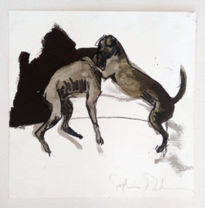 Fighting Dogs 4 by Sophie Dickens