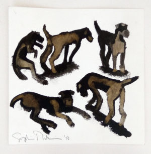 Five Resting Dogs by Sophie Dickens